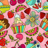 Seamless pattern ICE CREAM Royalty Free Stock Photo