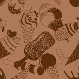 Seamless pattern of ice cream Royalty Free Stock Image