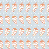 Seamless pattern of ice cream cone background Royalty Free Stock Images