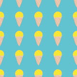 Seamless pattern with ice cream. Cute background in vintage retro style. Stock Images