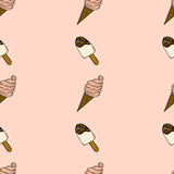 Seamless pattern with ice cream. Stock Image