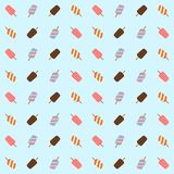 Ice cream of different colors on a light blue background. Vector. Seamless pattern. Ice cream of different colors on a light blue background Stock Photography