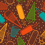 Seamless pattern with ice cream Stock Photos