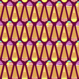 Seamless pattern with ice cream Royalty Free Stock Photography