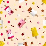Seamless pattern with ice cream Stock Photo