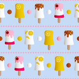 Seamless pattern with ice cream Royalty Free Stock Photo