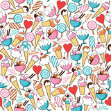 Seamless pattern Ice Cream Stock Photos