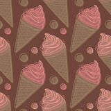 Seamless pattern with ice cream Stock Image