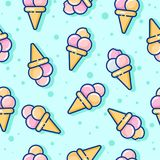 Seamless pattern. Ice cream on a light background. Pattern for textiles, wrapping paper, packaging. Seamless pattern. Ice cream on a light background. Pattern Royalty Free Stock Photos