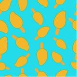Seamless pattern ice cream mango royalty free illustration