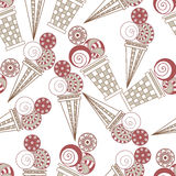 Seamless pattern with ice cream Royalty Free Stock Photos