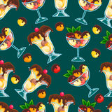 Seamless pattern with ice-cream Royalty Free Stock Image