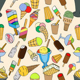 Seamless pattern with ice cream Royalty Free Stock Image
