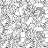Seamless pattern with ice cream Stock Photography