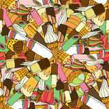 Seamless pattern with ice cream Royalty Free Stock Images