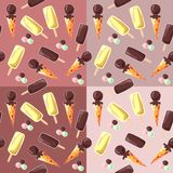 Seamless pattern of ice cream. Stock Photography