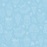 Seamless pattern of ice cream. Stock Image