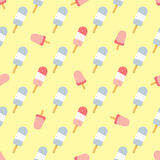 Seamless pattern with ice-cream for wrapping. Fabric, wallpaper Vector Illustration
