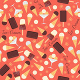 Seamless pattern with ice creams Stock Image