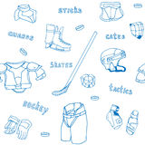 Seamless pattern ice-hockey equipment sport icon Royalty Free Stock Image