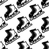 Seamless pattern of ice skates Royalty Free Stock Image