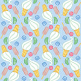 Seamless pattern with icecream and candy Stock Photo