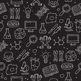 Seamless pattern icon in biology Royalty Free Stock Photography