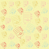 Seamless pattern with icon books Stock Images