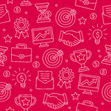 Seamless pattern of icon for a career Stock Images