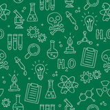 Seamless pattern of icon of chemistry Royalty Free Stock Photography