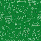 Seamless pattern of icon math Stock Images