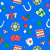 Seamless pattern of icons on the casino Royalty Free Stock Photography