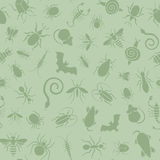 Seamless pattern of icons with insects for pest control business Stock Image