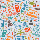 Seamless pattern of the icons Royalty Free Stock Images