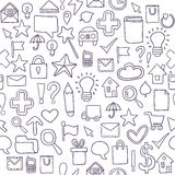 Seamless pattern Icons. Vector illustration Royalty Free Stock Photos