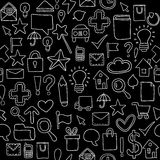Seamless pattern Icons. Vector illustration Royalty Free Stock Photography