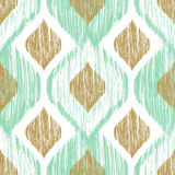 Seamless pattern. Ikat ethnic background in pastel colors. vector illustration