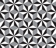 Seamless pattern. Seamless illustrated pattern made of white, black and gray triangles and rhombuses Royalty Free Stock Photo