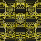Seamless pattern ancient American ornaments Royalty Free Stock Photos