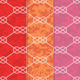 Set of Three Seamless Figure 8 Background Patterns Stock Photos