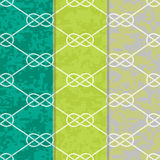Set of Three Seamless Figure 8 Background Patterns Royalty Free Stock Photo