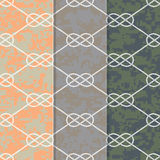 Set of Three Seamless Figure 8 Background Patterns Stock Photography
