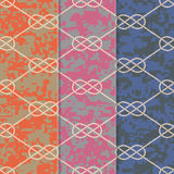 Set of Three Seamless Figure 8 Background Patterns Royalty Free Stock Images