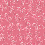 Seamless pattern - Illustration. Seamless floral pattern on the pink background Stock Photo