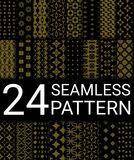 24 Seamless Pattern Illustration. 24 Gold Abstract Seamless Patterns Royalty Free Stock Image