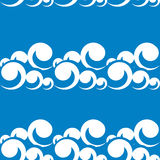 Seamless pattern illustration of sea waves Royalty Free Stock Image
