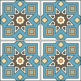 Seamless pattern illustration in traditional style - like Portuguese tiles. Stock Image