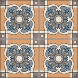 Seamless pattern illustration in traditional style - like Portuguese tiles. royalty free illustration
