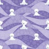 Seal and polar bear cubs pattern Royalty Free Stock Image