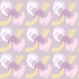 Seamless pattern with the image of feathers fluff Stock Image